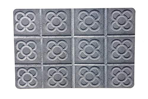 De'Carpet Alfombra Textil Suelo Barcelona Baldosa Hidráulica Original Moderna Lavable Baldosa Barcelona (50x80cm)