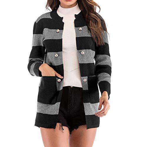 Dtuta Pullover Damen Strickjacken, Pullover Damen Strickjacke Lässig Casual Cardigan Langarm Outwear mit Taschen Mantel Jacke Winter,Sweatshirts Herbst