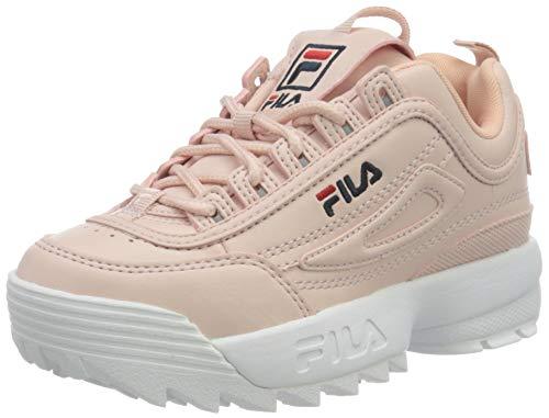 FILA Disruptor Kids Sneaker, Sepia Rose, 34 EU