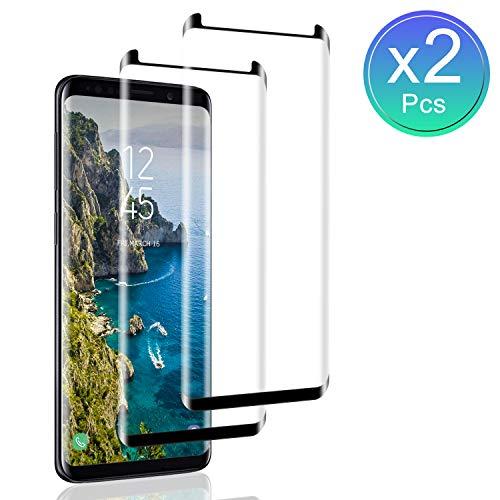 SNUNGPHIR Protector de Pantalla para Samsung Galaxy S9 Plus, [2 Piezas] Cristal Templado para Galaxy S9 Plus, [3D Cobertura Completa] [9H Dureza] [Sin Burbujas] Vidrio Templado para Galaxy S9 Plus