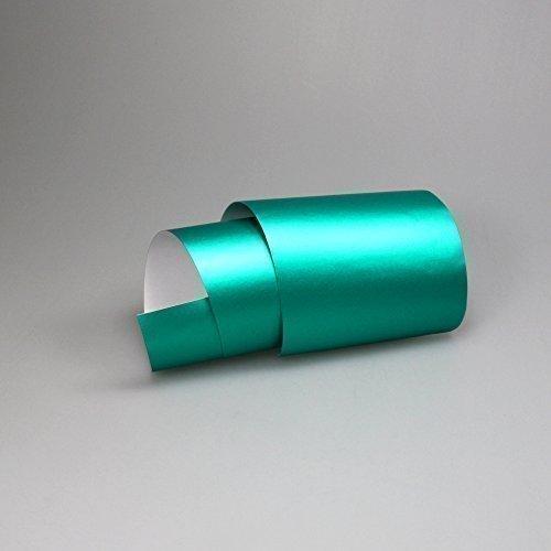TipTopCarbon 16,45€/m² Chrom Autofolie Matt Ice Türkis 0,3m x 1,52m Auto Folie BLASENFREI mit Luftkanälen 3D Flex