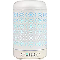 100ml Aromatherapy Diffusers for Essential Oils (White Metal)