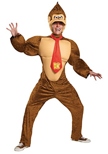 Disguise Men's Super Mario Donkey Kong Deluxe Costume, Brown, X-Large