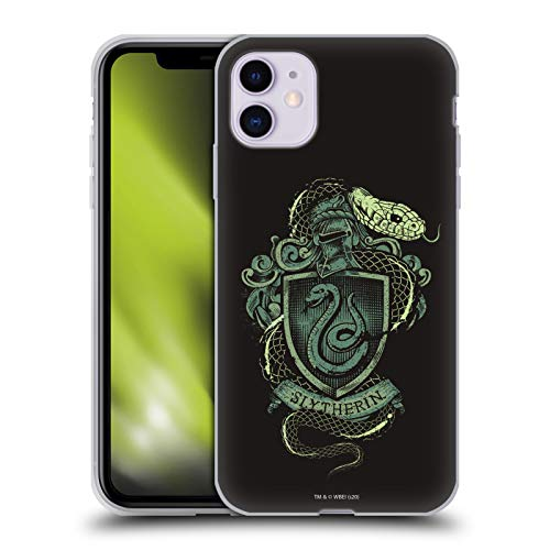 Head Case Designs Licenza Ufficiale Harry Potter Slytherin Deathly Hallows XIV Cover in Morbido Gel Compatibile con Apple iPhone 11