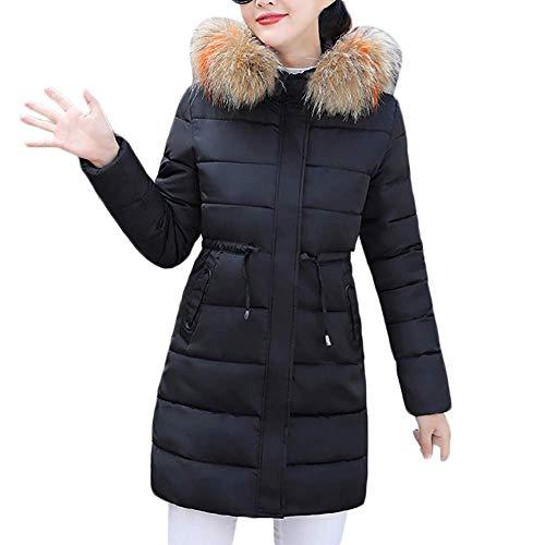 Dames winterjas lange donsjas outwear vrouwen winter warm kunstpel dunne gewatteerde jas Fashionable Completi dikke jas met capuchon kraag Jake verdikte gewatteerde mantel Sale
