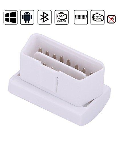 LoongGate Mini Bluetooth Auto OBD2 Scanner Standard Edition OBDII Auto Diagnosescanner - Windows und Android Geräte überprüfen Motor Licht Codeleser Scanner für Auto (weiß)