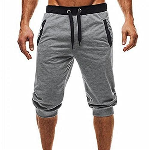 N\P Hombres Verano Harem Pantalones Pantalones Cortos Pantalones Deportivos, Gris Claro, X-Large