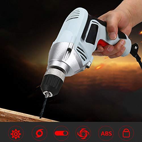 FFXENG Kraftvoller 550 Watt Profi-Bohrer, 10 mm Hochleistungs Bohrfutter.Abstellbare Schlagfunktion für das Bohren von Stahl und Holz und das Drehen von Schrauben,B