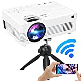 6500 Lumens WiFi Projector, Full HD 1080P and Max 200Inch Display Supported, Smart Phone Synchronization, Compatible with TV Stick/HDMI/PS4/DVD Player/AV