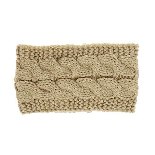 TOOGOO Chameau Printemps Hiver Chauffe Oreille Bandeau Pour Les Femmes En Tricot Crochet Twist Bande De Cheveux Filles Turban élastique Large Accessoires De Cheveux