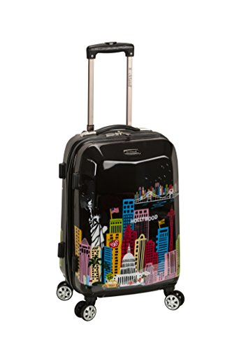 Rockland Departure Hardside Spinner Wheel Luggage Set, America, Carry-On 20-Inch