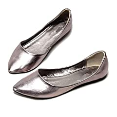 Closure Type:Slip-On,color:Grey Gold Silver,Heel Height:0.5cm,Occasion:Casual Toe Shape:Pointed Toe,Season:Spring/Autumn/Summer,Insole Material:COULD,Fit:Fits true to size, take your normal size Brand Name:KKK-3boss,Department Name:Adult,Model Number...