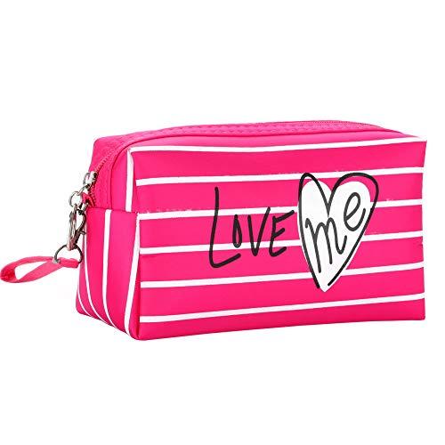 Lovemay Cosmetic Organizer Nylon sac Impression Cosmetic Bag Mode Femmes maquillage sac 18 cm * 8 cm * 10 cm