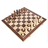 FABAX Schachbrett Holz Folding Magnetic Chess Massivholz Schachbrett Magnetische Stück Unterhaltung Brettspiele Kinder Geschenke Set Schach (Größe : 40cm)