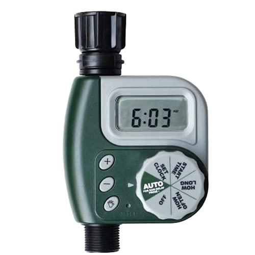 LTHTX Temporizador digital de riego automático de jardín, controlador de riego de manguera ajustable para riego de plantas