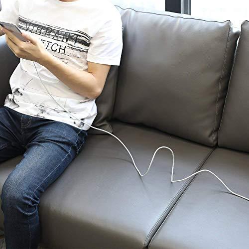 UNBREAKcable 2M Lightning Kabel iPhone Ladekabel - [MFi-Zertifiziert] USB Datenkabel geeignet für iPhone X, iPhone XR, iPhone 6 iPhone 6s, iPhone 8 iPhone 7, iPhone XS, iPad Air/Air 2, Silber-Grau