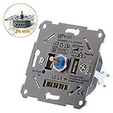 proventa Universaldimmer I Unterputzdosen-Drehdimmer zum Dimmen von LED- und Halogen-Leuchtmittel I Inklusive Adapter
