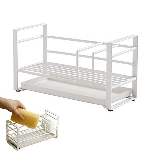 TAMRG Organizador de fregadero Caddy de acero inoxidable, multifuncional, para lavandería, para encimera de cocina, 20,2 x 11,5 x 8,4 cm