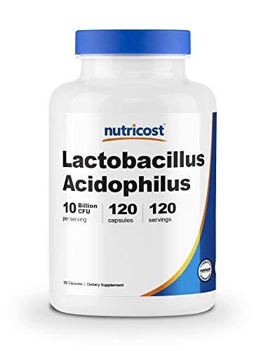 Nutricost Lactobacillus Acidophilus 10 Billion CFU, 120 Veggie Capsules
