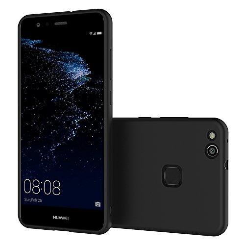 AICEK Huawei P10 Lite Hülle, Schwarz Silikon Schutzhülle für P10 Lite Case TPU Bumper Huawei P10 Lite Handyhülle - 6