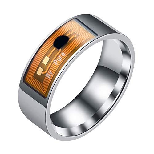 Benoon Fingerringe, wasserdicht, multifunktional, NFC, intelligenter digitaler Smart-Ring für Android-Fenster – transparente Farbe US 7