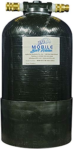 MOBILE SOFT WATER(R Portable 16,000 Grain Softener, Tank Head, Lead-Free NSF 61 Male GHC Connections, Distributor, Resin, and Instructions. with Lead-Free Brass Inlet and Outlet Quick Disconnects.