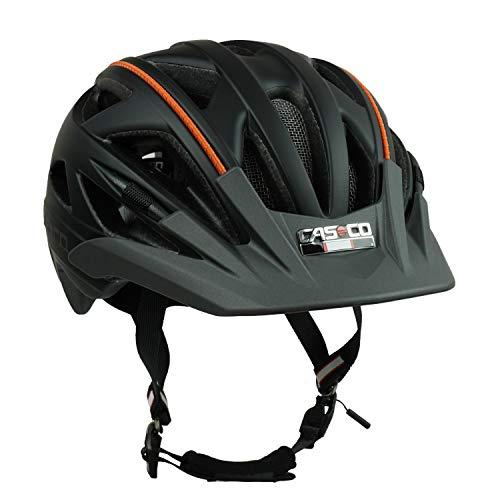 Fahrradhelm Radhelm Casco Activ 2 (schwarz-anthrazit - Biese orange, L (58–62 cm))