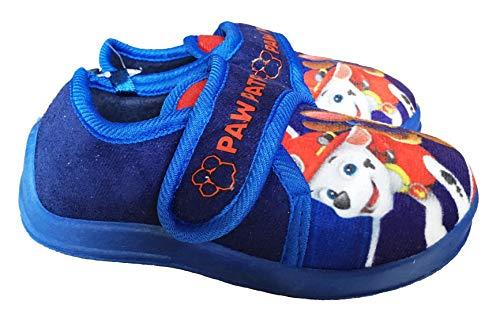 Zapatillas de casa de color azul con dibujos de La patrulla canina, color Azul, talla 29 EU