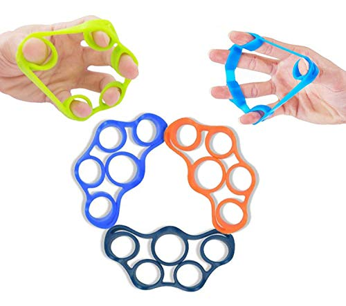 5Stk Handtrainer Fingertrainer Finger Strength Exerciser Silikon Finger Stretcher Finger Bahre Finger Widerstandsbänder Handmuskeltrainer zur Stärkung der Finger für Klettern - 3 Festigkeitsstufen