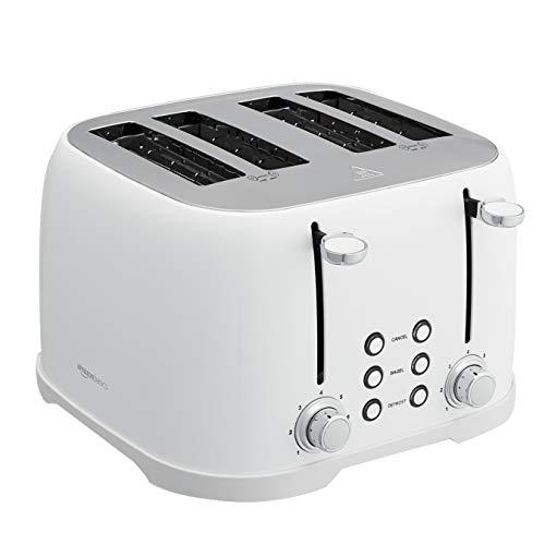AmazonBasics 4-Slot Toaster, White
