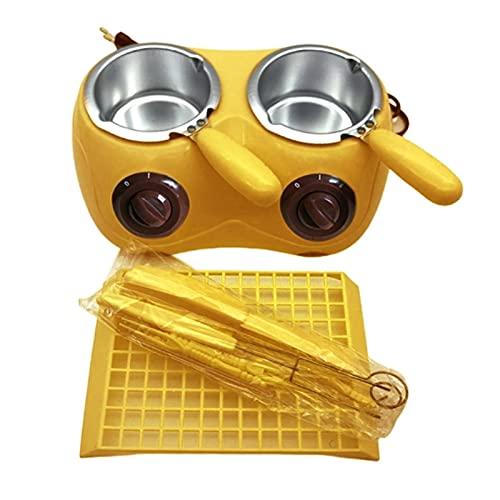 FSLLOVE FANGSHUILIN Elektrische Schokoladen-Schmelzgereift langlebige Aluminium-Liner-Kunststoff-heiße Schokolade Schmelztopf elektrische Fondue-Mischgerät-Werkzeugmaschine