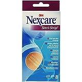 Nexcare 3M Cerotti Steri Strip, Strisce Cutanee per Suture, Traspiranti e Ipoallergeniche, 3 Pezzi da 6 x 75 mm, 5 Pezzi da 3 x 75 mm