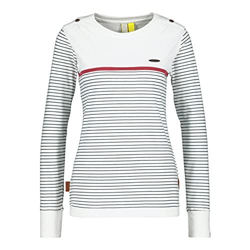 alife & kickin Damen LeonieAK T-Shirt, White, S