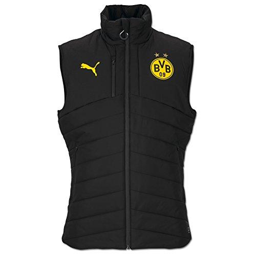 PUMA Herren BVB Casuals Performance Padded Vest Jacke, Black, L