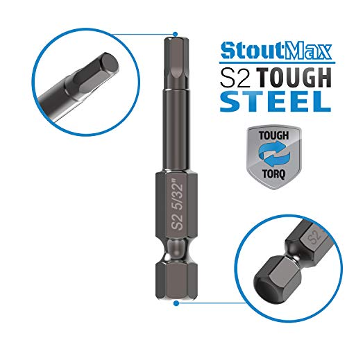 StoutMax Hex Bits Set Allen Wrench Key Drill Bit Set - Magnetic Tips - Quick Release Attachment Bit Holder - Solid S2 Steel Alloy - 2.3
