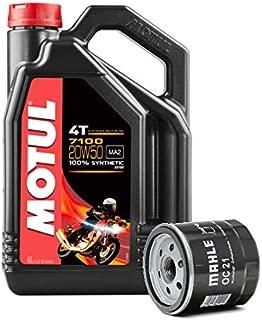 MOTUL Duo Servicio Cambio Aceite Motos 7100 4T 20W-50 Sintetico 4 litros + Filtro Aceite OC21 Harley Davidson