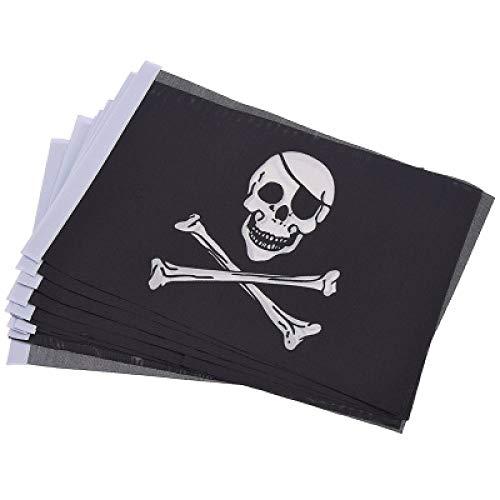 FUPOA 10 Teile/los Multi Style Horror Schädel Pirat Halloween Hand Flagge Für DIY Party Dekoration Lieferungen, 4