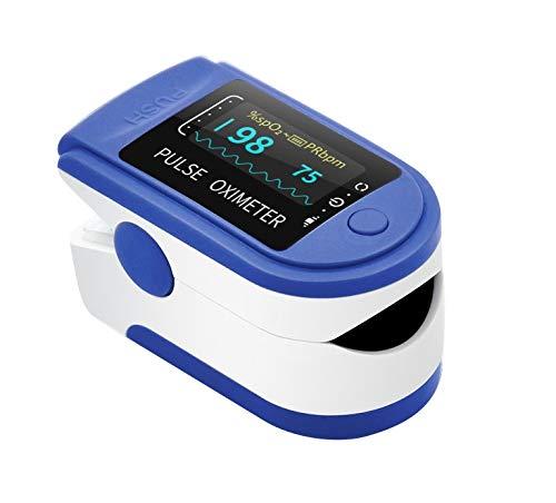 AIQURA pulsómetro de dedo oxígeno – pulsioxímetro de dedo profesional – oxímetro...