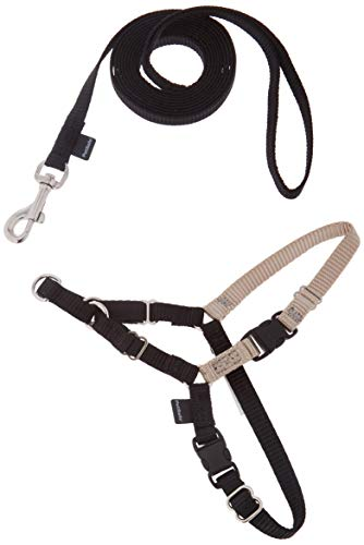 PetSafe - Harnais pour Très Petit Chien Easy Walk (XS), Empêche le chien de tirer sur la Laisse, avec 4 Points de Réglage pour Un Confort Maximal - Noir