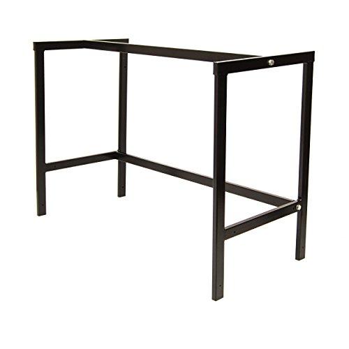 Werkstatttisch Arbeitstisch Werkbank Werktisch Tischgestell Packtisch 110cm Schwarz [C]