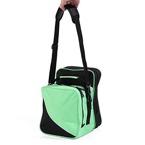 KXDLR Bowlingtasche mit Fronttasche mit Reißverschluss und Schuh-Ärmeln L grün