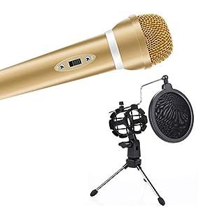 Bolange Kommunikationswerkzeug Rundfunkstation Mini Gold Ständer Silber Singhalter