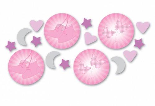 amscan International Confettis pour Baptême Design Chaussons Rose 14 g