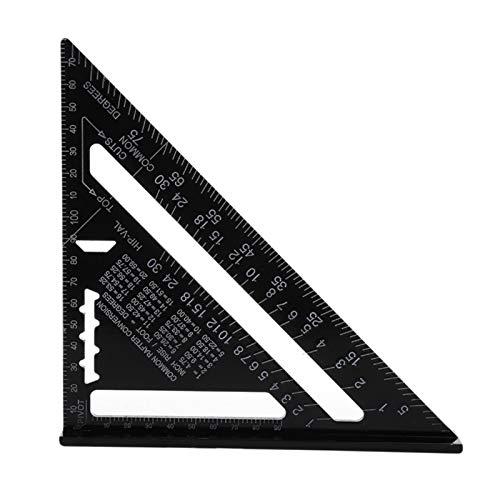 Regla de medición triangular 7 pulgadas Métrica de aleación de aleación de aleación cuadrada Techos Cuadrados Ángulo Ángulo Tractor Trámetro Tester Tester Herramientas Plaza de la carpintería