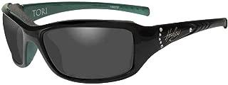 Harley-Davidson Women's Tori Gasket Sunglasses, Black/Green Stones Frame HATOR01
