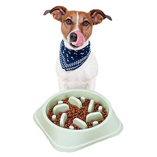 Desconocido Comedero Lento Perro, Plato Alimentación Lenta Antivoracidad Perros Ansiosos, Tazón Ansiedad Mascotas, Cuenco Interactivo Divertido Antideslizante con Obstáculos