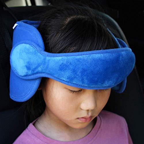 FREESOO Kopfstütze Kindersitz Kinder Auto kinderkopfstütze für Autositz Nackenstützen Einstellbare Kopfschutz Schlafkissen Kopfhalterung Blau