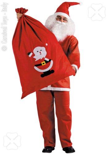CARNIVAL TOYS Grand Sac Rouge de Père Noël - Taille Unique