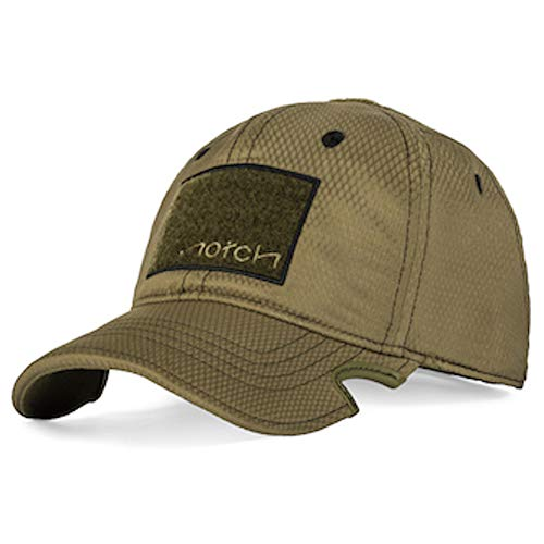 Notch Adjustable OD/Black Athlete Operator Cap, Mens Baseball Hat, Patented Notches for Wrap-Around Sunglasses, Shooting Glasses, Lightweight Baseball Cap, Great for Working Out and on The Range