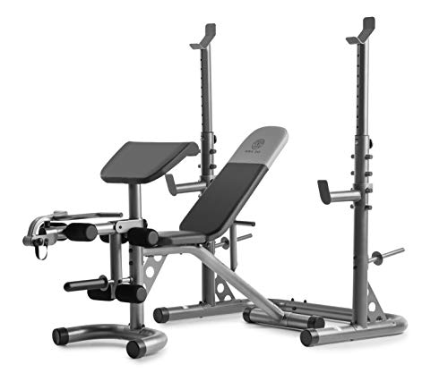 Gold's Gym XRS 20 Adjustable Olympic Workout Bench with Squat Rack,...